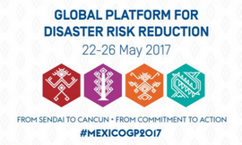 5th Global Platform on Disaster Risk Reduction in May 2017