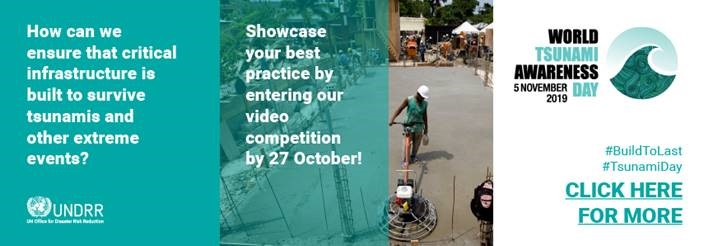How can we ensure that critical infrastructure is built to survive tsunamis and other extreme events? Showcase your best practice by entering our video competition by 27 October! #BuildToLast #TsunamiDay CLICK HERE FOR MORE
