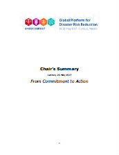 Global platform for disaster risk reduction - Chair's summary: From commitment to action