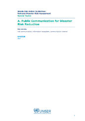 Public communication for disaster risk reduction