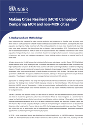 Report on the Making Cities Resilient (MCR) Campaign: Comparing MCR and non-MCR cities